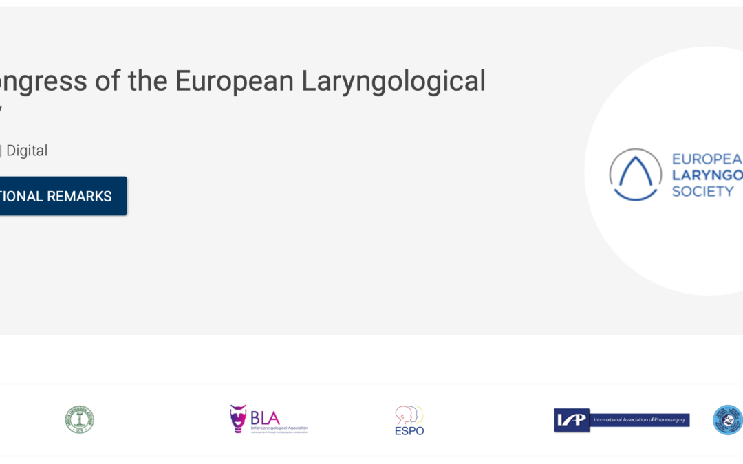 ELS 13th Congress of the European Laryngological Society | May 28th virtual